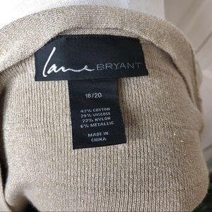 Lane Bryant Sweaters - Lane Bryant metallic gold zip sweater, 18-20W